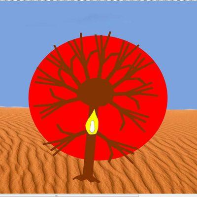 Symbole du buisson ardent dans la Bible