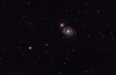 Photo astronomie : Une photo de M51 de Thierry