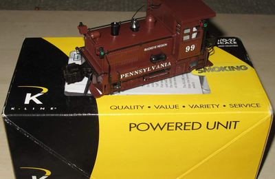 Locomotive diesel Plymouth Switcher Pennsylvania 3 rails échelle O K-Line
