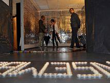 """Nuit Blanche, installation, """"je suis ensemble""""."""