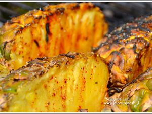 "Ananas ""qui pique"" cuisson Barbecue BBQ"