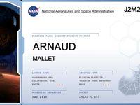 Nos ticket avec nos Prénom pour Mars avec InSight