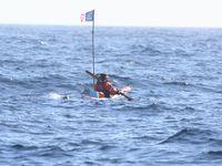 225  -  Quelques photos de l'AR-MEN RAID, Nageurs de l'extrême : Alain Grégis et Jacques Tuset, vendredi 2 août 2013, du phare d'Ar-Men au phare de Tévennec par GeoMar