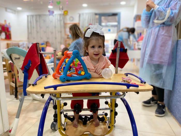 Une enfant de l'ADI Negev-Nahalat Eran, en Israël. (Crédit : ADI Negev-Nahalat Eran)