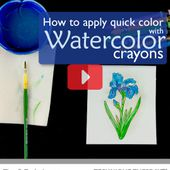 How To Use Watercolor Crayons With The Iris Stamp - Technique Video