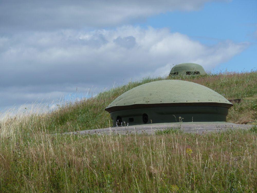 Tourelle de 75 mm du fort d'Uxegney à Epinal, un cuirassement terrestre utilisé à deux exemplaires sur les côtes