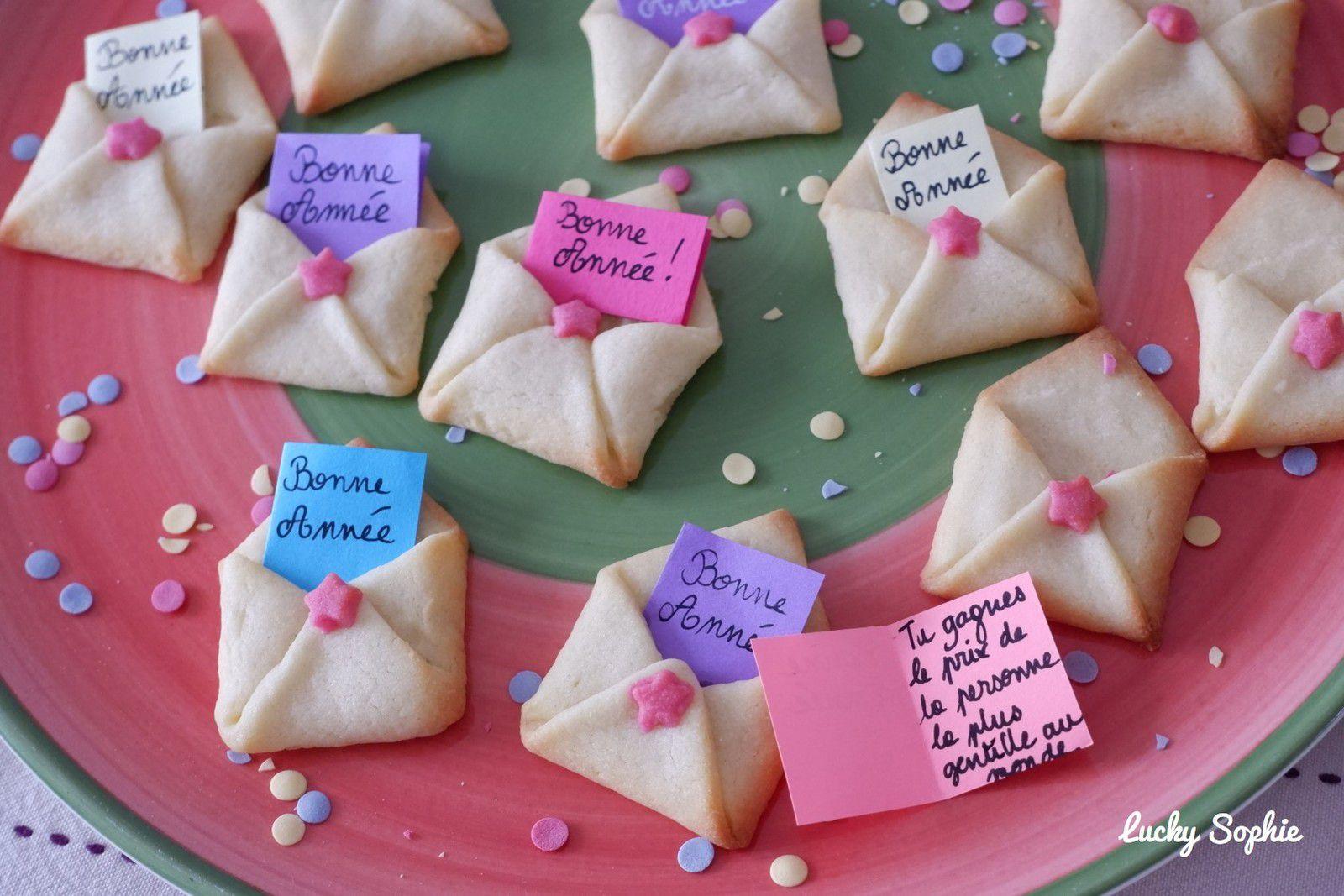 Biscuits sablés cartes de voeux de bonne année