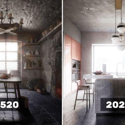 Evolution du design de la cuisine en 500 ans