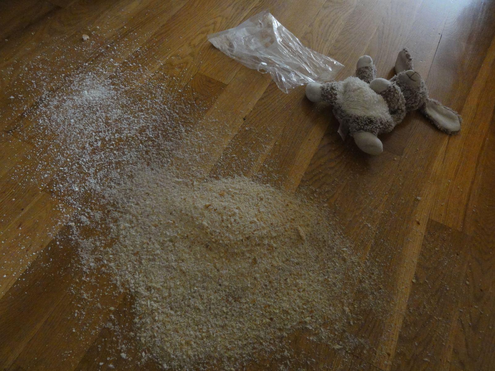 Mais non, mon fils, ce n'est pas comme ça qu'on fait du lapin pané !