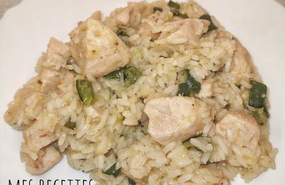 One pot riz poulet et courgettes (au cookeo)