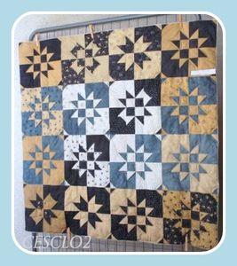 Hexagones en mode quilting