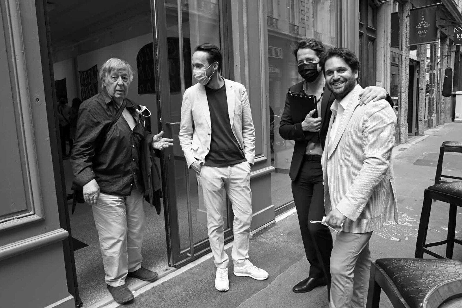 Claude Viallat, François Ceysson, Loïc Bénétière, Pierre Collet