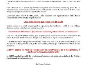 L'Intox Estrosi et AMF :  Pas d'arme pour les Policiers Municipaux non armés !
