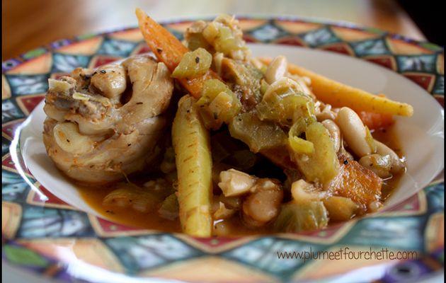 """Pilons de poulet au four """"style cassoulet"""""""