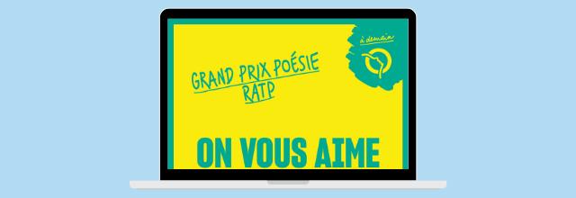 Encore 10 jours pour participer au Grand Prix Poésie RATP !