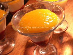 Coupe Mangue Mascarpone à l'Orange & Rhum Coulis de Framboise