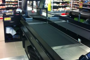 Test Caisse scanner 360 à Auchan AEROVILLE