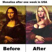 Humour USA: Chirurgie esthétique à outrance, même la Joconde - Doc de Haguenau