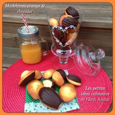 Madeleines orange / chocolat
