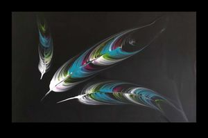 Plumes bleues