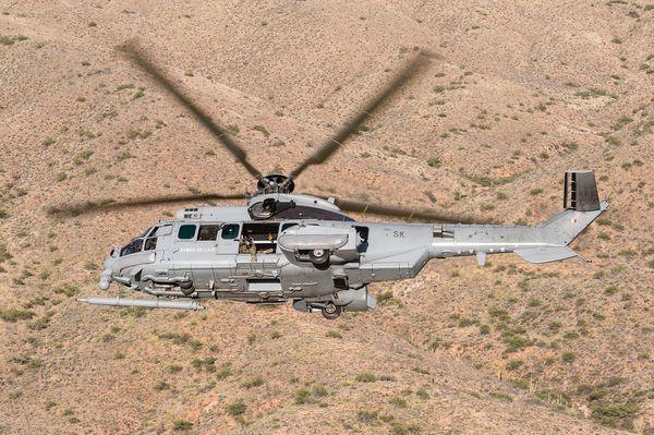 © A. Jeuland / Armée de l'Air - Exercice aux Etats-Unis d'un H225M Caracal de l'Armée de l'Air française.