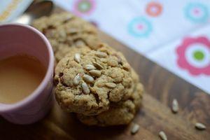 Cookies aux graines de tournesol et chocolat