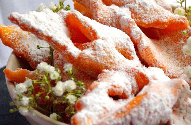 Bugnes aux zestes d'orange