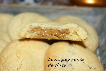 Cookie coeur coulant spéculoos