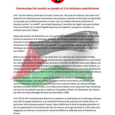 Paris : Palestine Commémoration de la Nakba - 1948 - 2021 Marche de soutien à la résistance du peuple palestinien  SAMEDI 15 MAI 2021  15H METRO BARBÈS PARIS