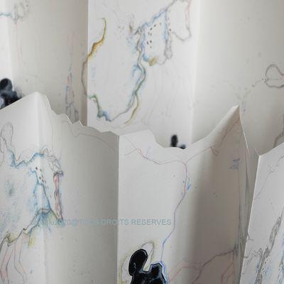 Leporello et dessins. 2020@Carol Riu. Droits reserves; Adagp.