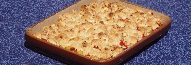 Crumble salé légumes et poulet Crumble salé légumes et poulet  Une recette du blog «Fashion cooking...