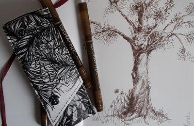 arbre crayonné avec des graphik line marker