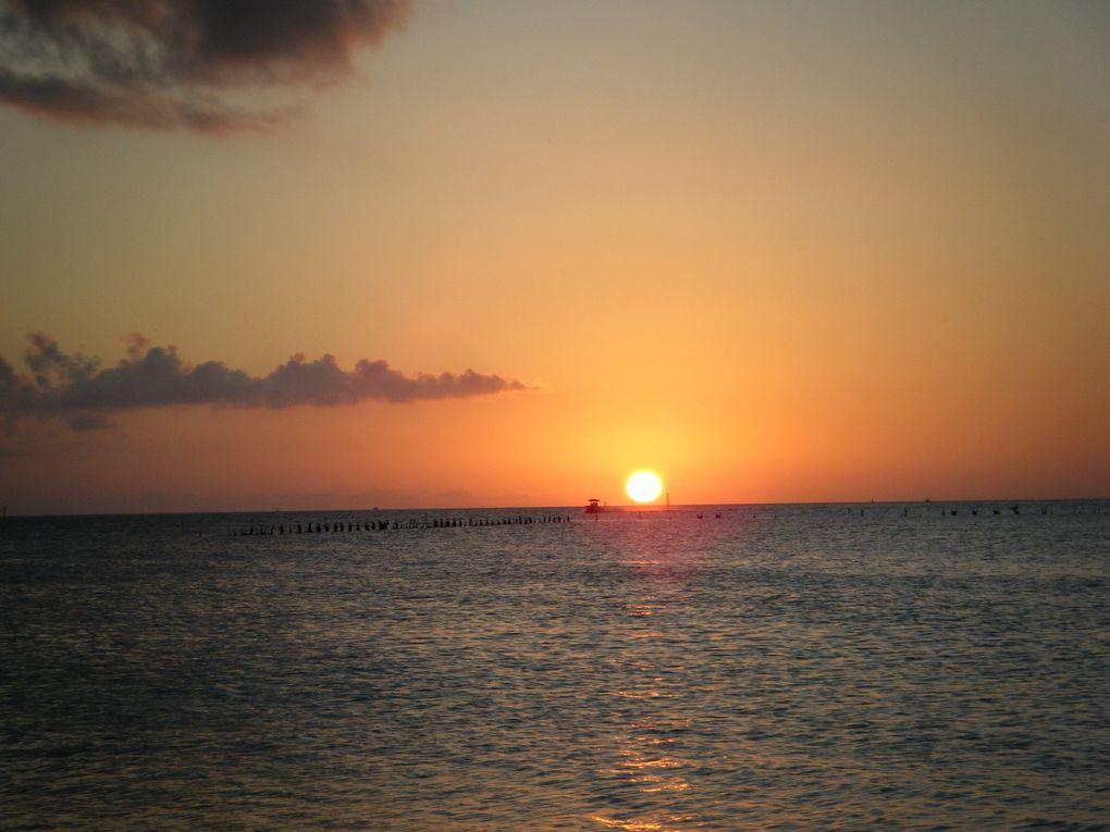 """coiucher du soleil depuis le """"Pier"""" de Key West"""