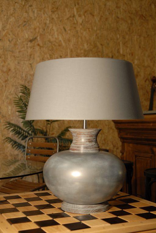 LAMPES DE SALON et PÂTE DE VERRE