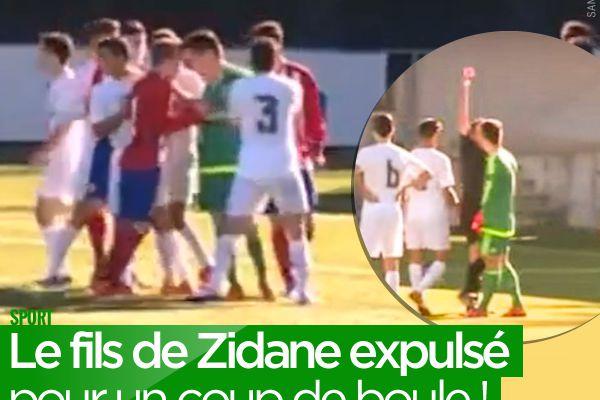 Le fils de Zidane expulsé pour un coup de boule ! #LucaZidane