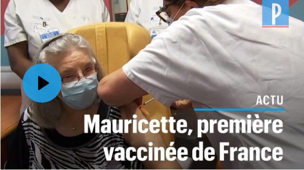Sevran : Mauricette la première vaccinée de France a reçu sa seconde injection contre la Covid-19