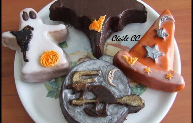 Et voici d'autres petits gâteaux pour Halloween...