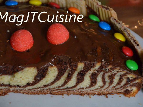 Gâteau Zébré pour un Anniversaire