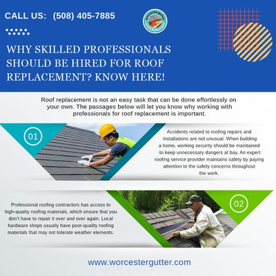 Why skilled professionals should be hired for roof replacement? Know here!
