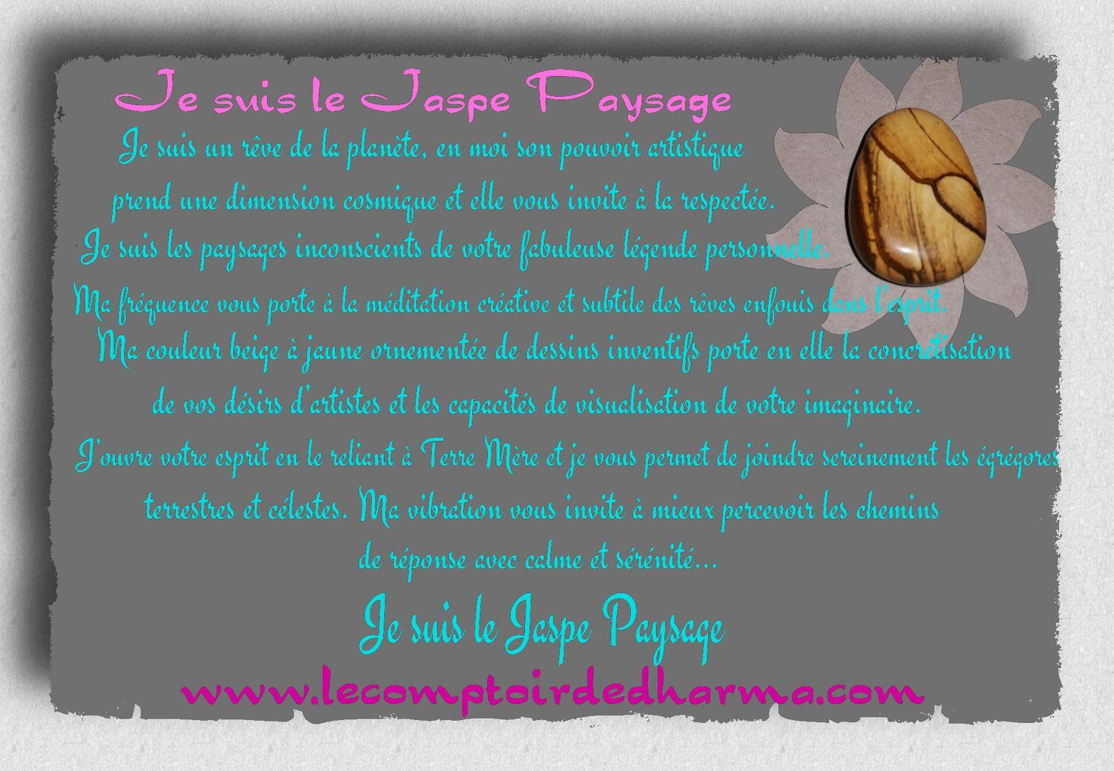 le Jaspe Jaune ou Le jaspe beige  et Le Jaspe Paysage