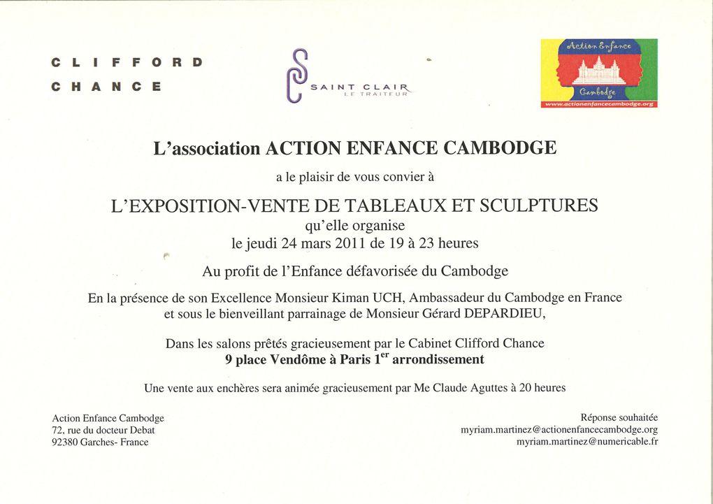 soirée AEC exposition peintures place Vendôme Paris