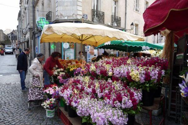 Le marché de Vannes, samedi.