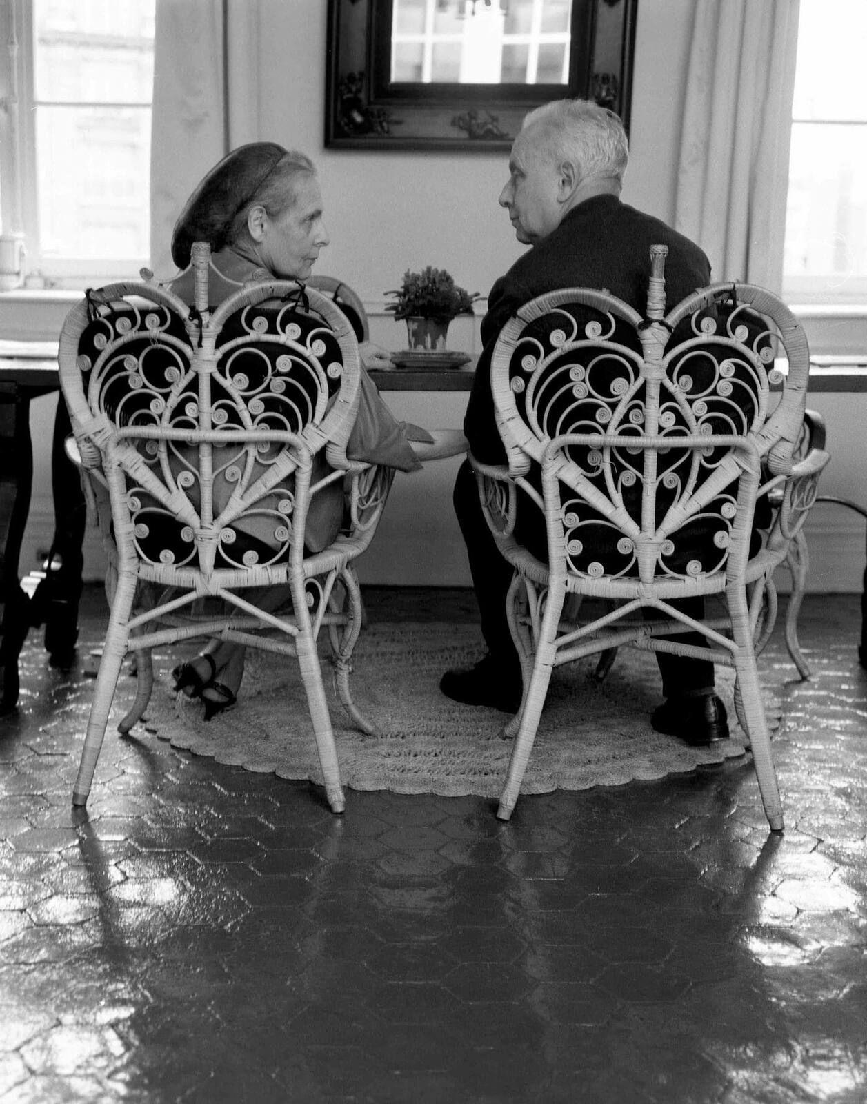 25 juin  Aragon et Elsa Triolet Paris le 25 juin 1963