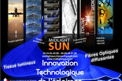 Éclairage innovant : tissu lumineux, fibre optique diffusante, LEDs sans fil... MIDLIGHTSUN France