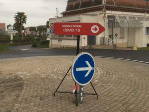 L'entrée de l'hôpital est filtrée. Le circuit de l'accueil coronavirus.