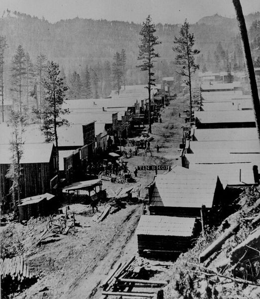 Deadwood`s main street on 1876.