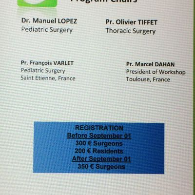 The 3rd Workshop on Chest Wall Deformities
