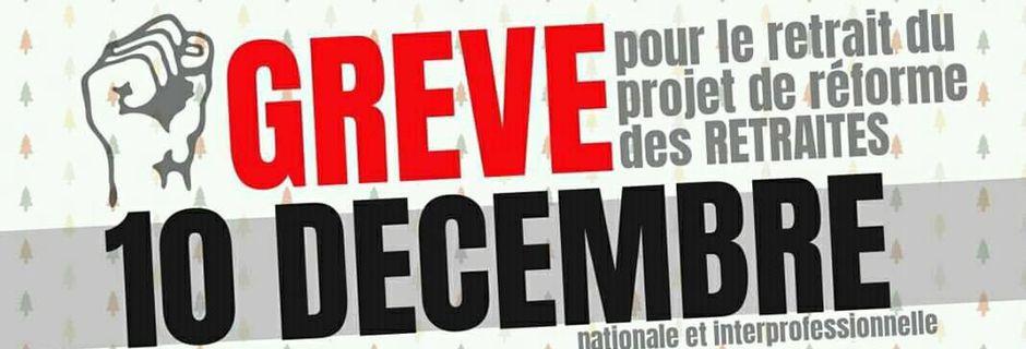 Grève reconductible en Haute-Loire et manifestation du 10 décembre !
