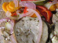 filet de poulet cuit entre 2 couches de légumes - LIGHT-