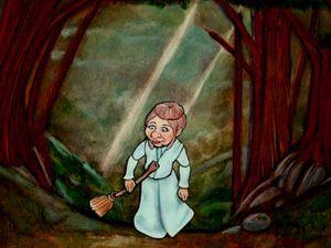 Esther, la petite sorcière. Paper Cut. Personnage à découper.